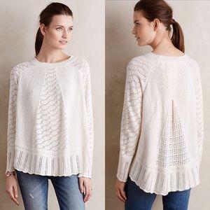 Anthropologie Nulia Circle Hem Poncho Sweater M/L